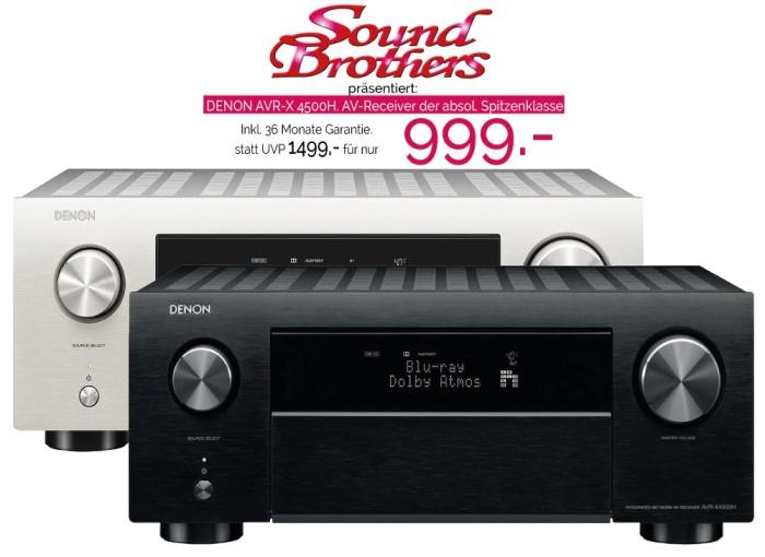 Denon AVR-X4500H für unter 1.000 Euro bei den Soundbrothers