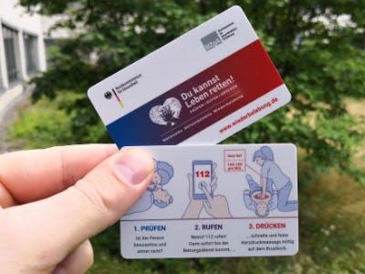 """""""Du kannst Leben retten!"""": Scheckkarte zu Wiederbelebungsmaßnahmen gratis bestellen"""