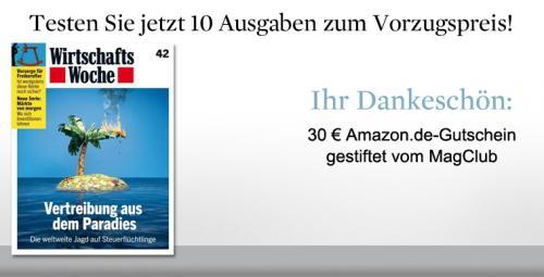 10 x WiWo für 31,50 € + 30 € Amazon Gutschein (nicht selbstkündigend)
