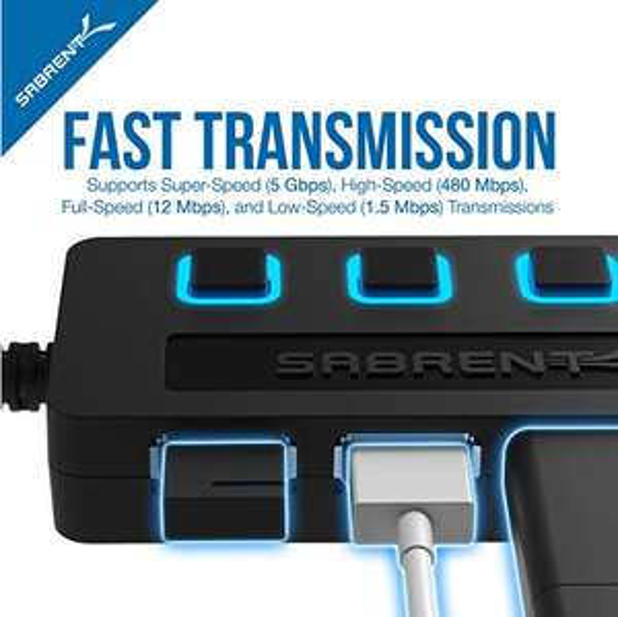 Sabrent USB HUB - 4-Port -USB 3.0 (einzelne Abschaltung) [Amazon Prime]