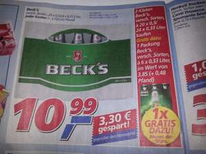 2 Kisten Beck's + 1 Sixpack bei Real