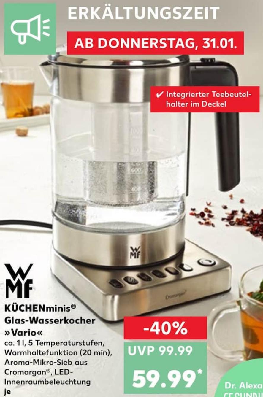 WMF KÜCHENminis Vario 59,99€ Wasserkocher [Kaufland]