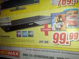[Lokal Kaiserslautern MediMax] Panasonic DMP-BDT120 3D Blu-Ray Player + IceAge 3 3D + Cars Blu-Ray 99,99€ // Philips Home Theater 5.1 (HTB7590D) 599€