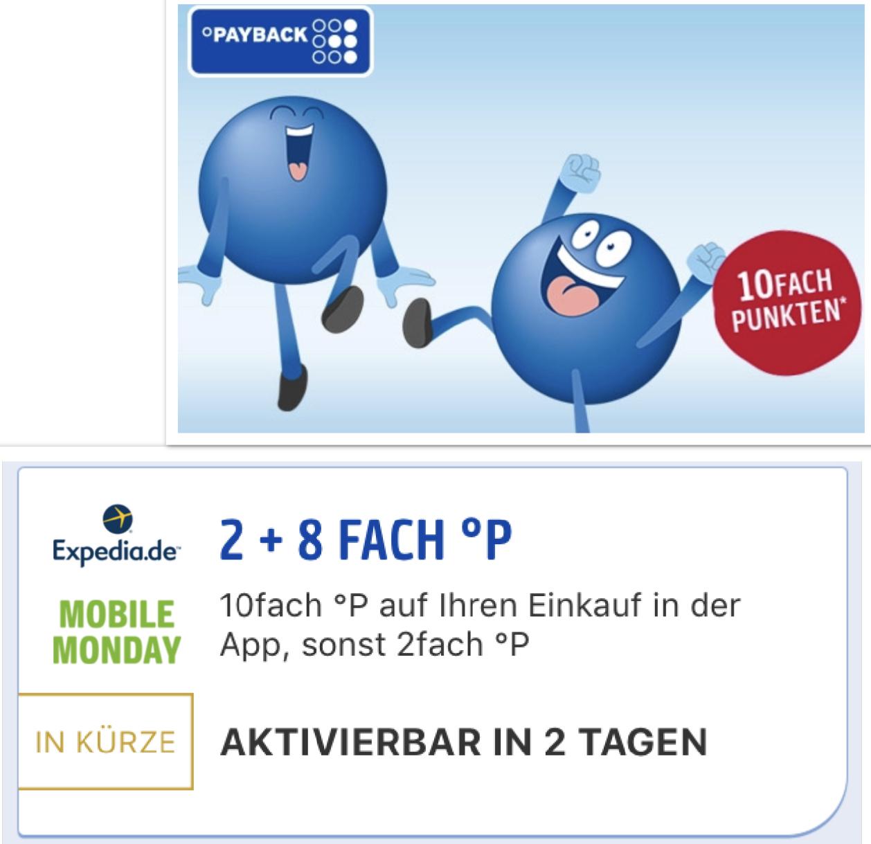 Nur am Montag: Mobile Monday 10-fach Payback Punkte bei Expedia - entspricht rd. 5% Ersparnis (evtl. mit Shoop kombinierbar)
