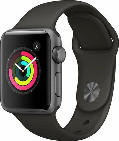 [Megapreis-Shop] Apple Watch Series 3 (GPS) Aluminium 38mm grau mit Sportarmband grau (MR352ZD/A) auch silber und Nike+