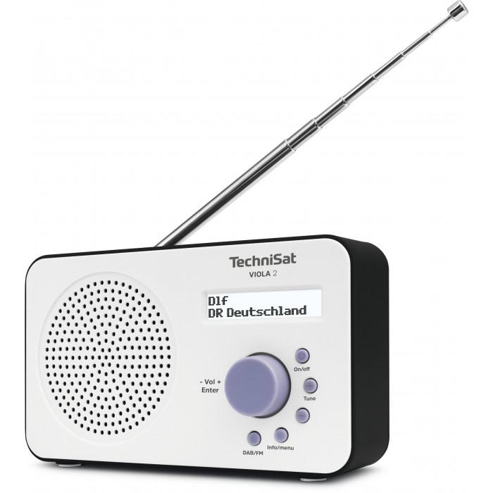 Digitalradio TechniSat VIOLA 2 (DAB+, UKW, Monolautsprecher 1W RMS, Kopfhöreranschluss, Display, Netzteil- oder Batteriebetrieb)