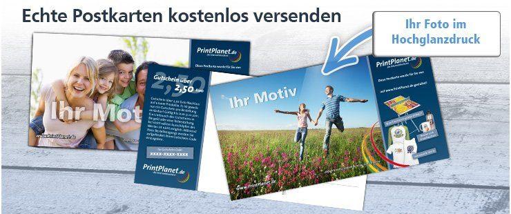 Gratis Postkarte mit eigenem Bild gestalten & kostenlos versenden
