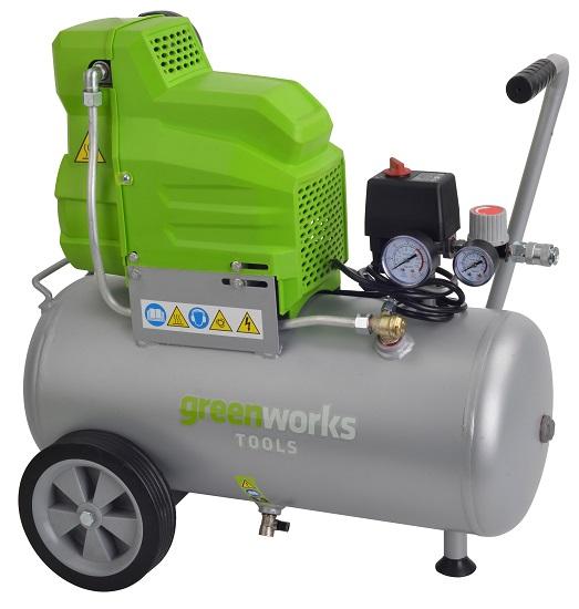 greenworks kompressor 24 l versandkostenfrei 7 jahre. Black Bedroom Furniture Sets. Home Design Ideas