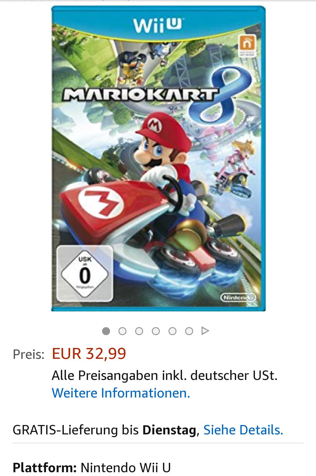 Mario Kart 8 Wii U auf amazon.de