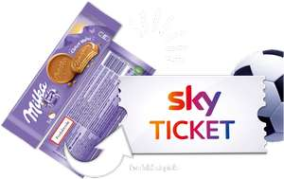 Sky Supersport Tagesticket mit EINEM Milka Barcode