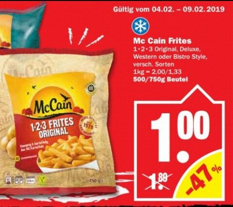 McCain Frites versch Sorten 1,-€ pro Beutel [NP]