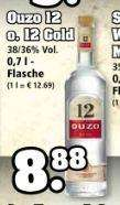 Ouzo 12 und 12 Gold - 38 / 36% Vol. - 0,7l - 8,88 € @Trinkgut