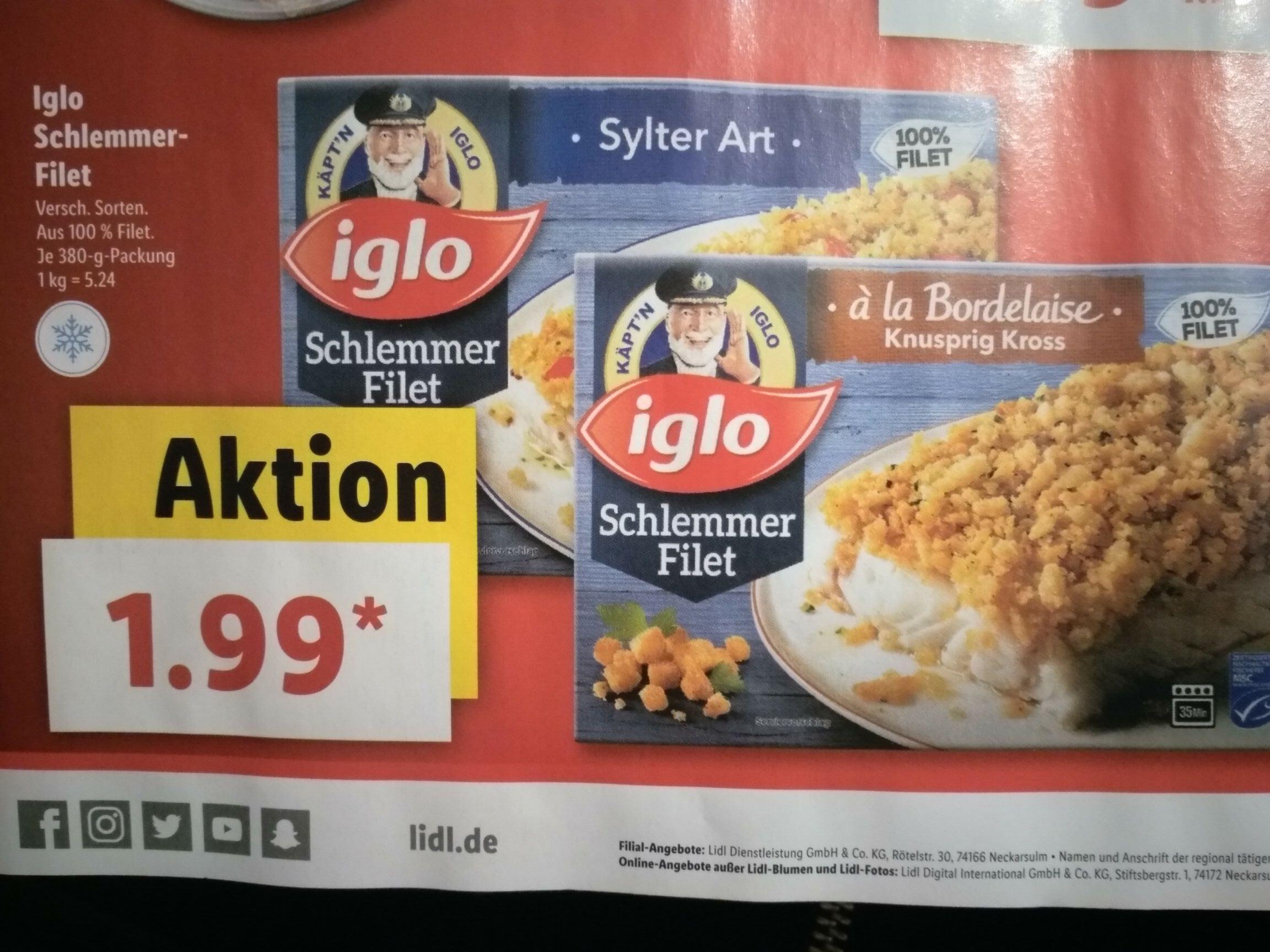 Iglo Schlemmer Filet (Lidl)