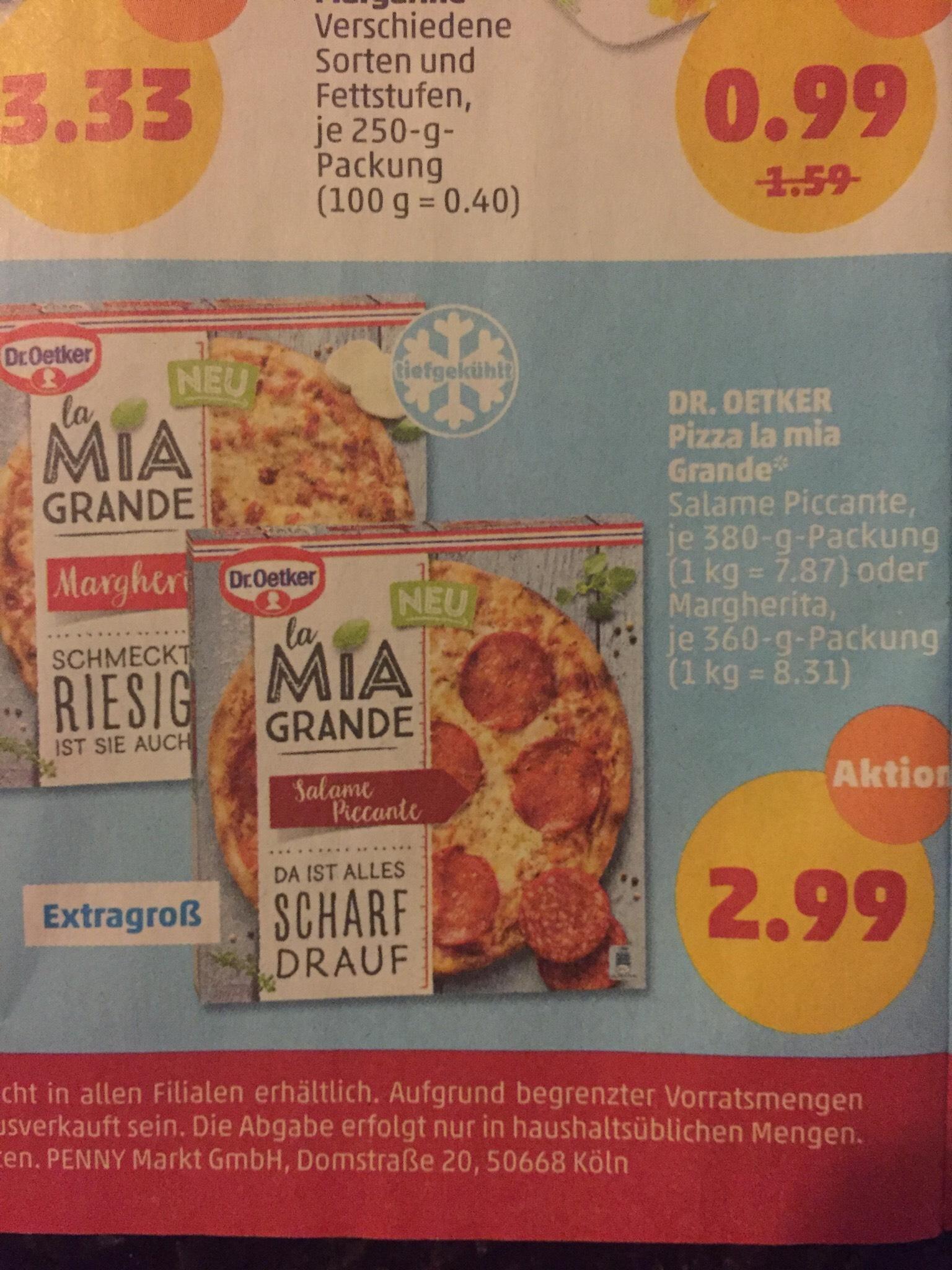 DR. OETKER Pizza la Mia Grande bei Penny ab 04.02.