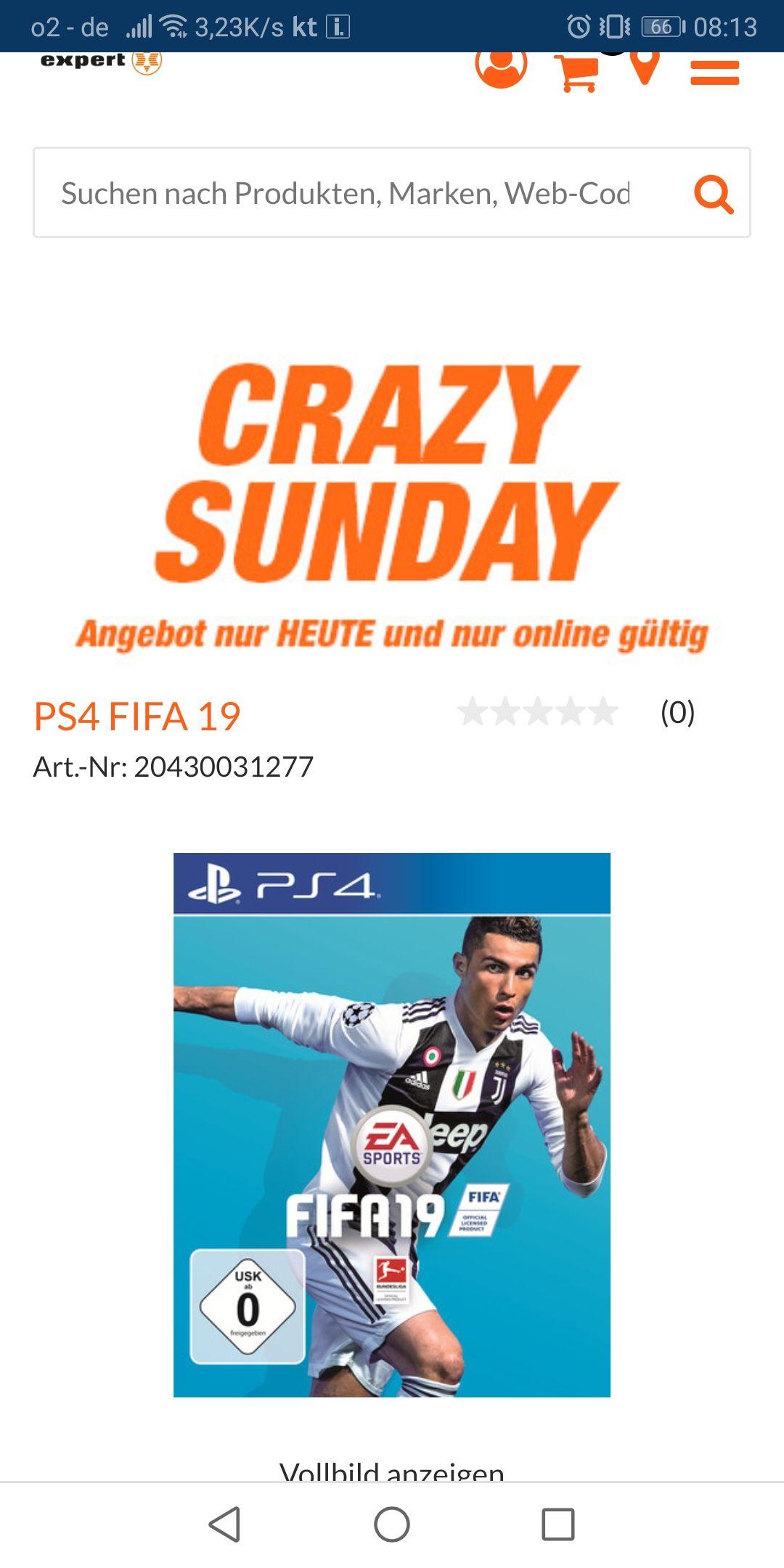 Fifa 19 PS4 27€ inkl. Versand