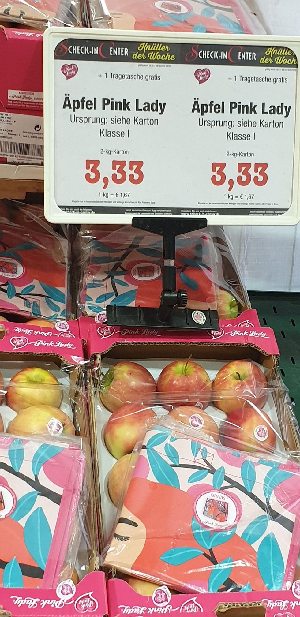 2kg Pink Lady Äpfel für 3,33€!! 1,67€ pro Kilo [evt. nur lokal Karlsruhe]