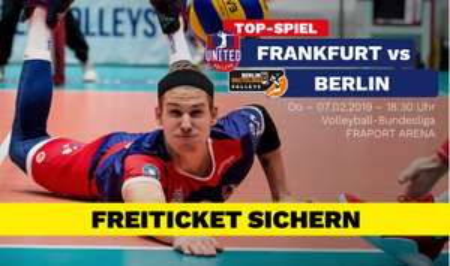 Kostenloses Ticket: [Volleyball-Bundesliga] United Volleys Frankfurt vs. Berlin Recycling Volleys in Frankfurt am Main am 7.2.19