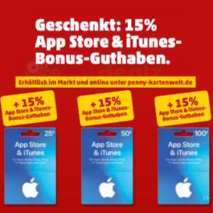 [Penny] 15% extra Guthaben auf App Store & iTunes Geschenkkarte