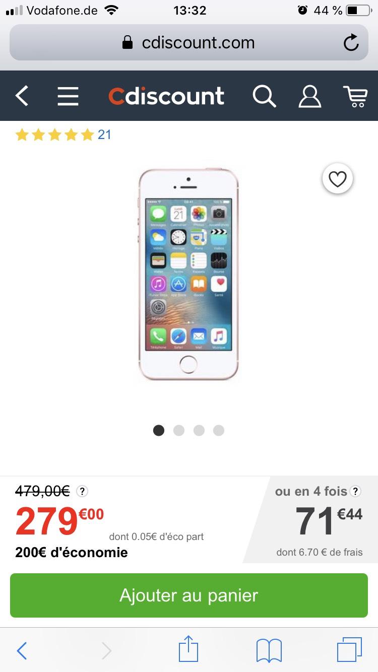 iPhone SE 128GB Roségold