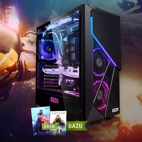 Megaport Gaming PC mit AMD Ryzen 5 2600, Nvidia Geforce RTX 2060, 256GB SSD, 1TB HDD, 16GB RAM und 1 Spiel gratis für 999 Euro (+9 Euro VSK)