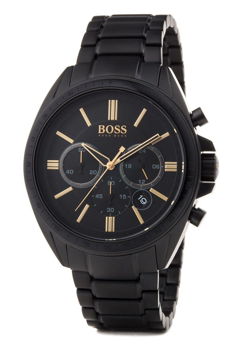 Hugo Boss Driver Chrono Armbanduhr (44 mm, Quarz, Edelstahlarmband, wasserdicht bis 5 bar, Mineralglas)