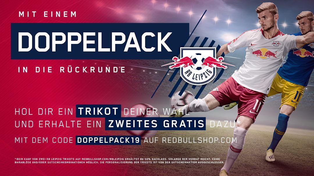 (RB Leipzig) 2 Trikots zum Preis von einem (42,48€ pro Trikot)