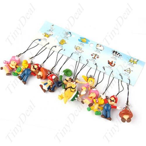 (HK) 12 x Figuren aus dem Super Mario Universum als Schlüsselanhänger für 6.73€ @ TD