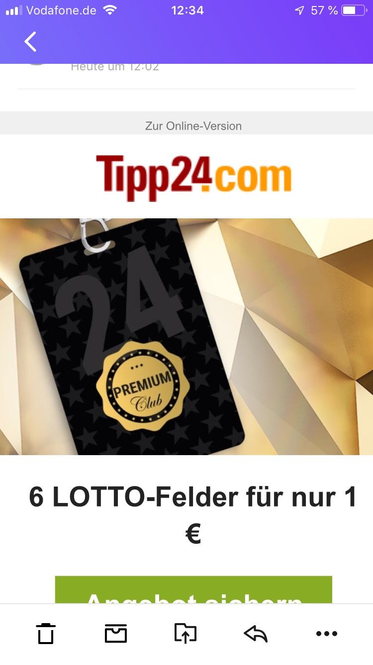 6 Lotto Felder für 1€