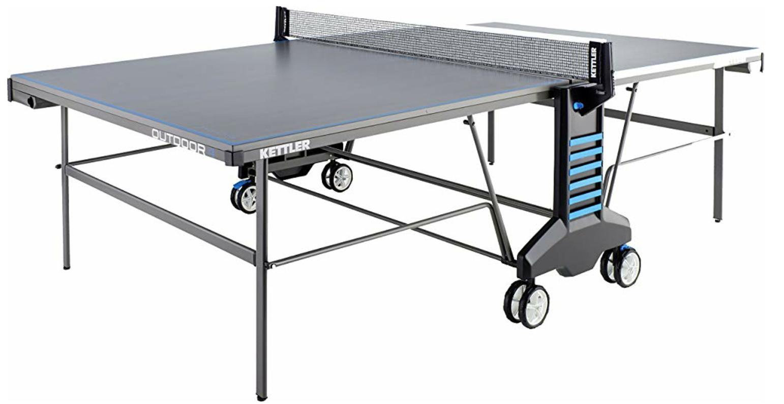 KETTLER Sport Tischtennisplatte Outdoor 4, Turniermaße, Aluminium, grau/blau