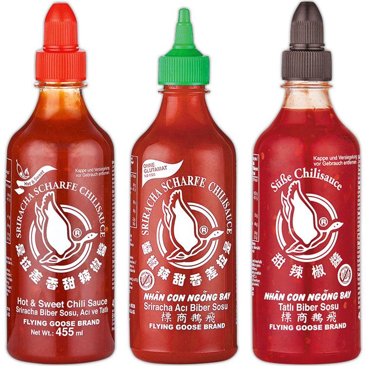 FLYING GOOSE Sriracha Chili-Sauce - süß, scharf, sehr scharf für nur 2,69€ bei ( Norma ab 11.2.)