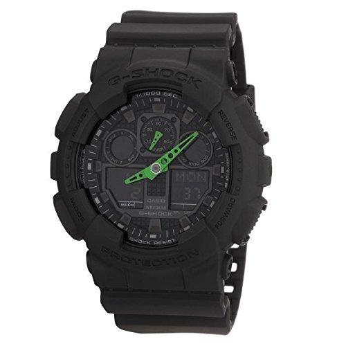 Amazon.fr: Casio G-Shock GA-100C-1A3ER (schwarz) bzw. GA-100B-4AER (rot)