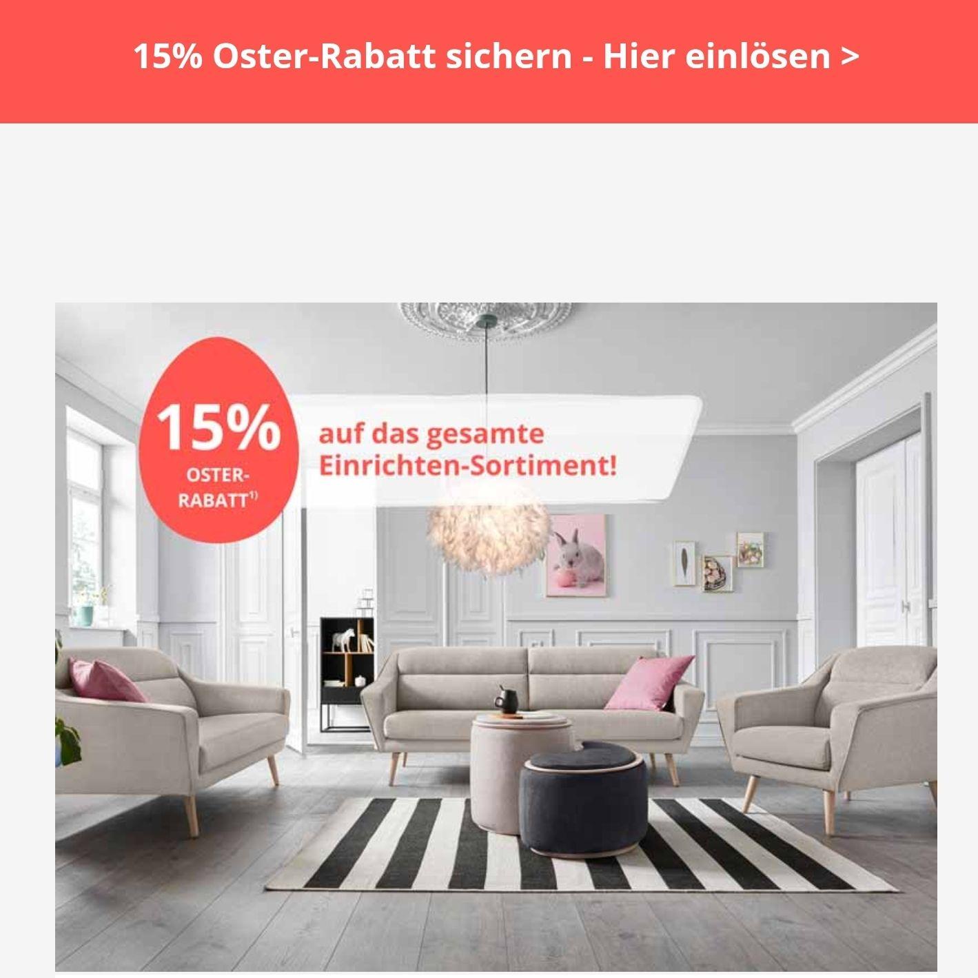 Yourhome 15% Oster-Rabatt im Onlineshop und in der APP
