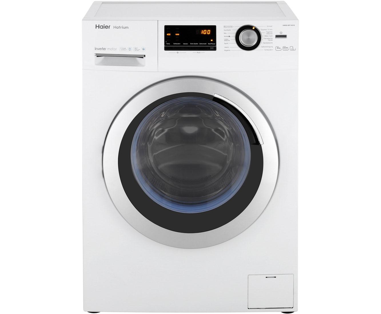 Haier HW80-BP14636 | Waschmaschine | Weiß, 8 kg, 1400 U/Min, A+++