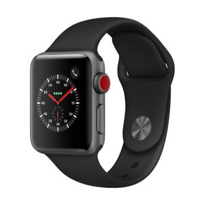 Apple Watch Series 3 GPS + Cellular LTE 38mm Aluminiumgehäuse mit Sportarmband schwarz für 287,04€ inkl. Versandkosten [Cyberport@ebay]
