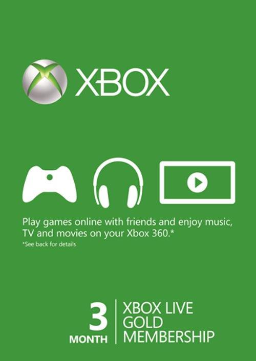 3 Monate Xbox Live Gold-Mitgliedschaft (Xbox One/Xbox 360) für 8,82€ (CDkeys)