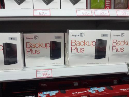 [Lokal] Media Markt Nürtingen Seagate Backup Plus Desktop USB 3.0 1TB 77,-€