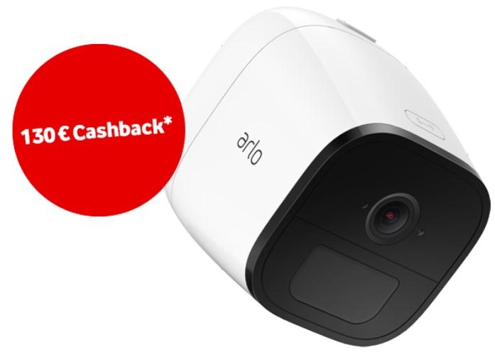Arlo Go (V-Camera by Vodafone) für 249€ - 130€ Cashback = 119€ + 2 Jahre lang 40GB LTE Daten | Überwachungskamera mit 30 Tagen Akkulaufzeit *UPDATE* 2 Kameras für je 109,50€