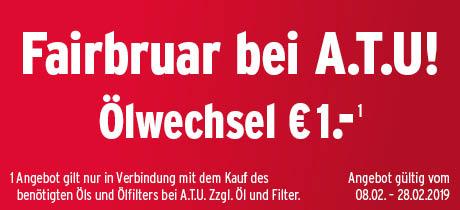 Ölwechsel für 1€ bei ATU zzgl. Öl und Filter