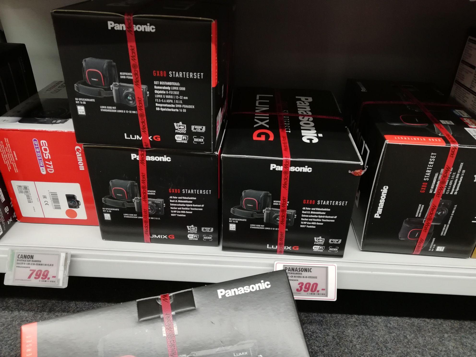 Panasonic Lumix DMC GX80 mit 12-32 Objektiv, Kameratasche und 16GB Speicherkarte, MM Meppen
