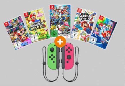[Saturn] NINTENDO Switch Joy-Con 2er-Set,Alle Farben + 1 Spiel aus 5 wie Zb.. Super Smash Bros. Ultimate - Nintendo Switch für je 99,-€