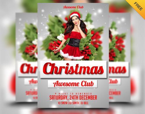 Kostenloser Weihnachts Flyer für eure Party!