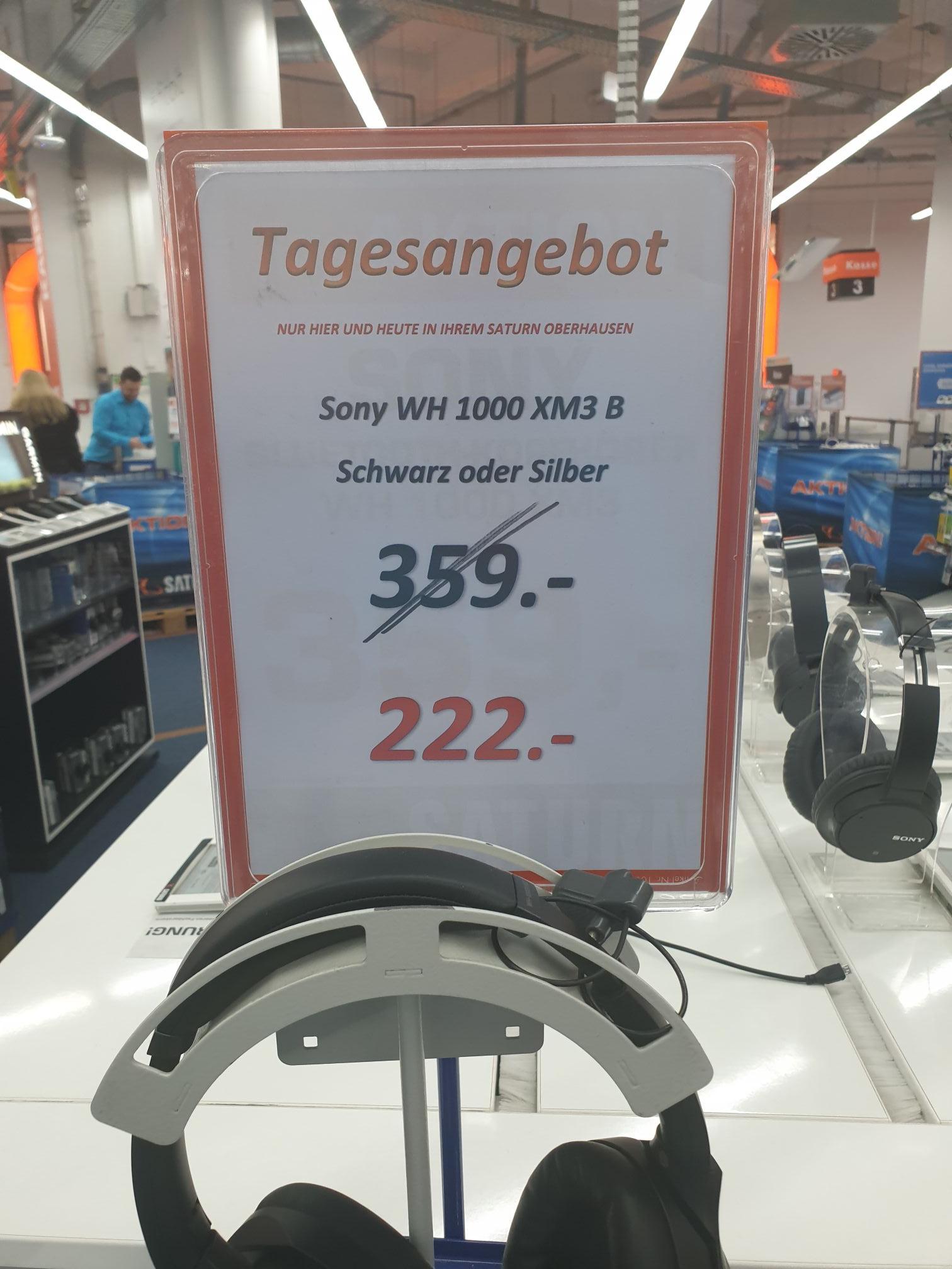 Saturn Oberhausen CentrO lokal Bestpreis Sony WH 1000 m3 in schwarz und silber