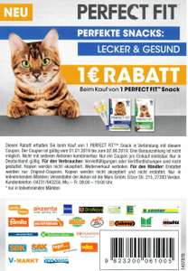 1€ Perfect Fit Snack Katzen- & Hundefutter Rabatt Coupon