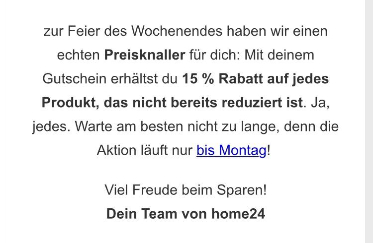 Home24.de Wochenenddeal