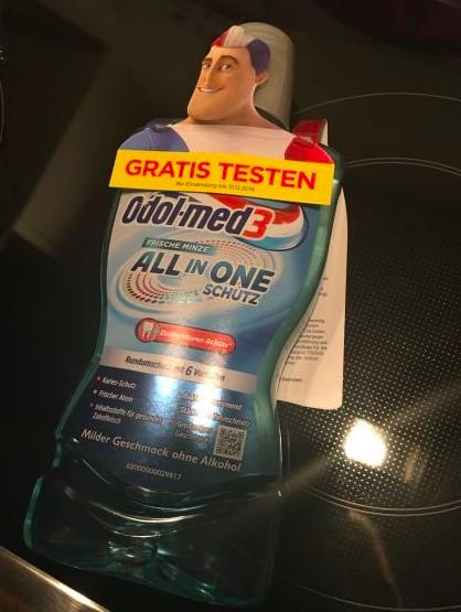Odol med-3 Original oder All in One Schutz Mundspülung, 500 ml, gratis testen