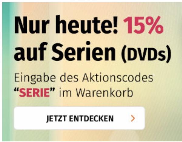15% auf Serien (DVD) im Online-Shop von Müller nur am 10.02.2019 [mueller.de]
