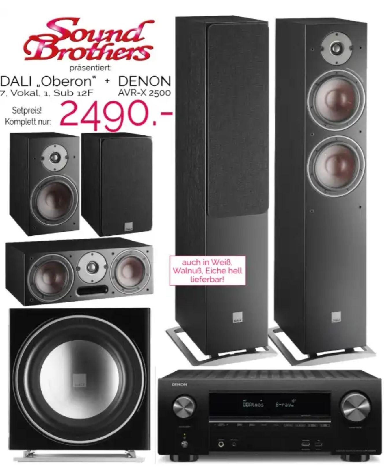 DENON AVR-X 2500 + DALI OBERON 7 - Lautsprecher Paket