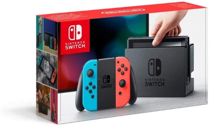 Nintendo Switch Konsole mit Joy-Con neon-rot/neon-blau (Amazon.fr)