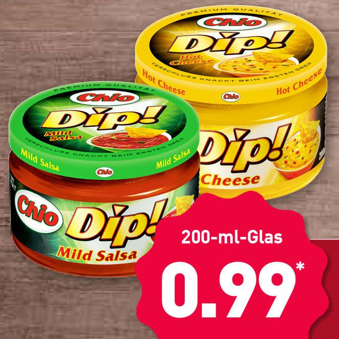 Chio Dip! statt 1,99 nur noch 99 Cent bei ( Aldi Nord ab 22.02)