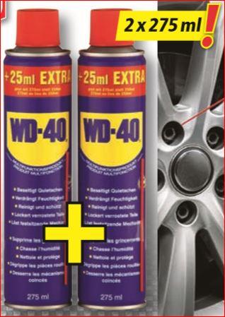WD-40 Multifunktionsöl, 2er-Pack mit jeweils 25 ml mehr Inhalt für 4,99 Euro [Norma]